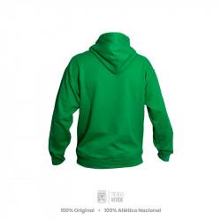 Buso con capucha verde silueta escudo Moda Atlético Nacional 2020