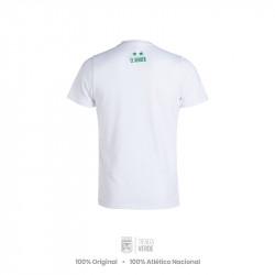 Camiseta blanca 76-81 Moda Atlético Nacional