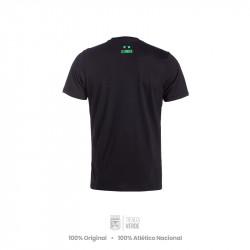 Camiseta negra 76-81 Moda Atlético Nacional