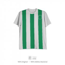 Camiseta rayas escudo silueta Moda Atlético Nacional