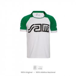 Camiseta SAM Blanca Retro Atlético Nacional