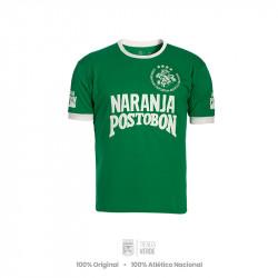Camiseta Naranja Postobón verde Retro Atlético Nacional