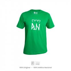 Camiseta verde AN Blanco...