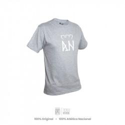 Camiseta gris AN Blanco...
