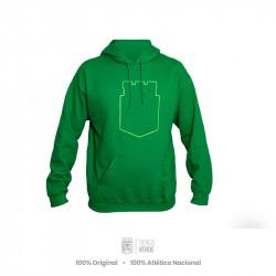 Buzo con capucha verde...